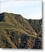 Ojai Valley With Snow Metal Print
