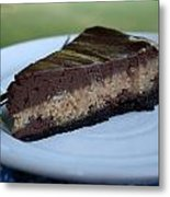 Peanut Butter Chocolate Cheesecake Metal Print