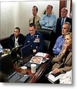 President Barack Obama And Vice Metal Print by Everett