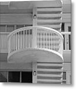 3 Rails In Black And White Metal Print
