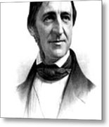 Ralph Waldo Emerson, American Author Metal Print