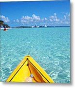 Relaxing At Coco Cay In The Bahamas Metal Print