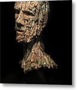 Revered  A Natural Portrait Bust Sculpture By Adam Long Metal Print by Adam Long