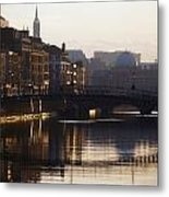 River Liffey, Dublin, Co Dublin, Ireland Metal Print