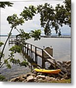 River Walk On The Indian River Lagoon Metal Print