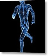 Running Skeleton, Artwork Metal Print