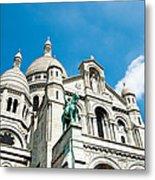 Sacre Coeur Basilica Paris France Metal Print