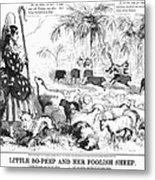 Secession Cartoon, 1861 Metal Print by Granger