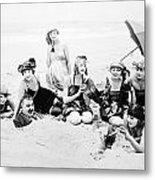 Silent Still: Beach Metal Print