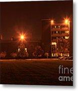 Sodium Vapor Lights On College Campus Metal Print