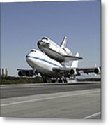 Space Shuttle Endeavour Mounted Metal Print