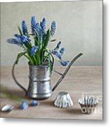 Still Life With Grape Hyacinths Metal Print