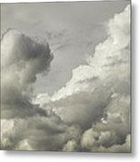 Storm Clouds And Thunder Heads Before Rain Storm Fine Art Print Metal Print