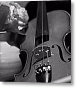 3 Strings Metal Print