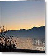 Sunset Over An Alpine Lake Metal Print