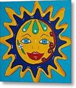 Talavera Sun Metal Print