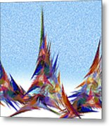 3 Teepees Snow Storm Metal Print