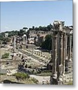 Temple Of Saturn In The Forum Romanum. Rome Metal Print by Bernard Jaubert