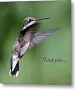 Thank You Card Metal Print