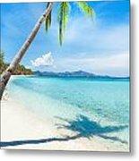 Tropical Beach Malcapuya Metal Print
