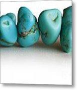 Turquoise Stones Metal Print