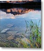 Two Jack Lake Metal Print