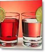 Two Red Drinks Metal Print