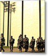 U.s. Army Soldiers Prepare To Board Metal Print
