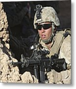 U.s. Marine Provides Security Metal Print