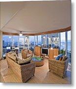 Usa Hi Honolulu Upscale Living Room Metal Print by Rob Tilley