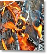 Wood Fire Metal Print