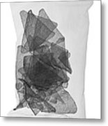 X-ray Of A Bag Of Corn Chips Metal Print