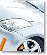 350z Car Front Close-up  Metal Print