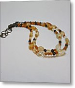 3514 Citrine Double Strand Necklace Metal Print