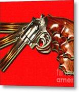 357 Magnum - Painterly - Red Metal Print