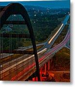 360 Bridge Morning Traffic Metal Print by Lisa  Spencer