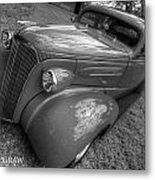 37 Chevy Coupe Bw Metal Print