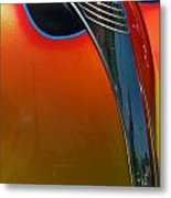 39 Ford Deluxe Hot Rod Hood Ornament  Metal Print