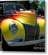 39 Ford Deluxe Hot Rod Metal Print
