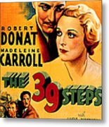 39 Steps, The, Robert Donat, Madeleine Metal Print