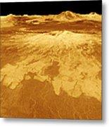3d Perspective View Of Sapas Mons Metal Print