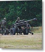 A Belgian Artillery Unit Setting Metal Print by Luc De Jaeger