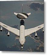 A U.s. Air Force E-3 Sentry Aircraft Metal Print