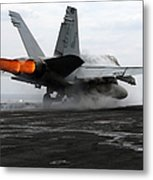 An Fa-18c Hornet Launches Metal Print