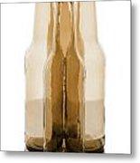 Beer Bottles Metal Print