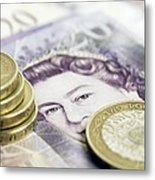 British Currency Metal Print by Johnny Greig