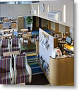 Business Lounge At An Airport Metal Print