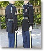 Changing Of Guard At Arlington National Metal Print