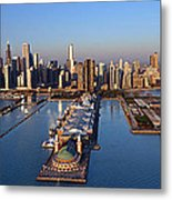 Chicago Skyline Metal Print by Jeff Lewis