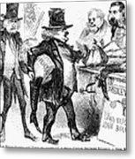 Civil War: Cartoon, 1861 Metal Print